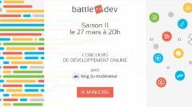 Inscrivez-vous à la 11ème édition de la Battle Dev !