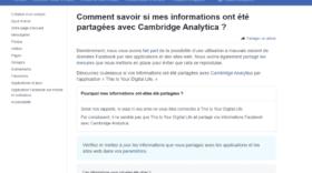 Facebook : vérifiez si vos données ont été partagées avec Cambridge Analytica
