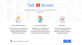 Google améliore la recherche avec Talk To Books, un outil capable répondre aux questions abstraites