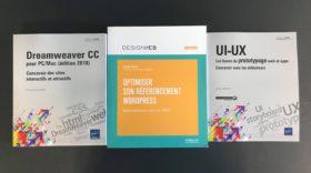 3 livres à découvrir et à gagner sur Dreamweaver, le référencement WordPress et l'UI-UX