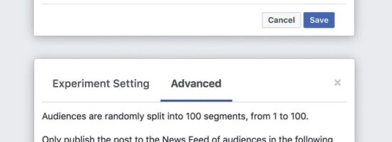 Bientôt des tests A/B sur Facebook ?