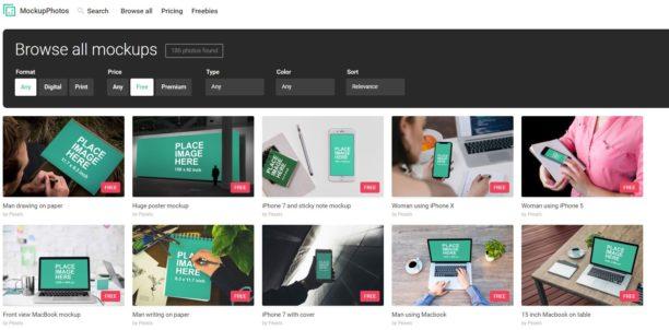 MockupPhotos : une bibliothèque de mockups gratuits