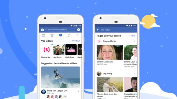 Facebook lance les contenus vidéos Watch dans le monde entier