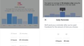Facebook et Instagram indiquent désormais le temps passé sur leur plateforme