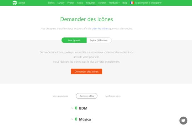 Icons8 : un moteur de recherche pour télécharger des icônes gratuites