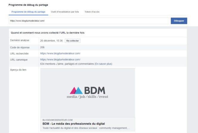 Comment vider le cache des réseaux sociaux après la mise à jour du titre ou de l'image d'une page web