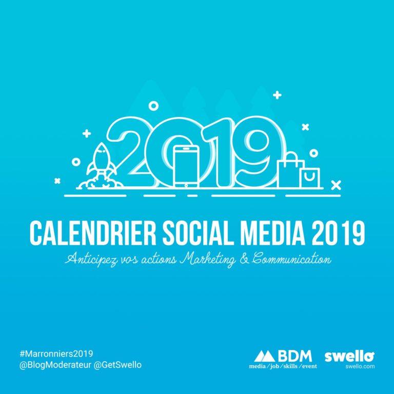 Calendrier marketing 2019 : la liste de tous les événements de l'année