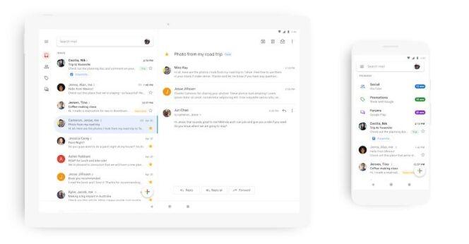 Gmail : la nouvelle version de l'application mobile est disponible
