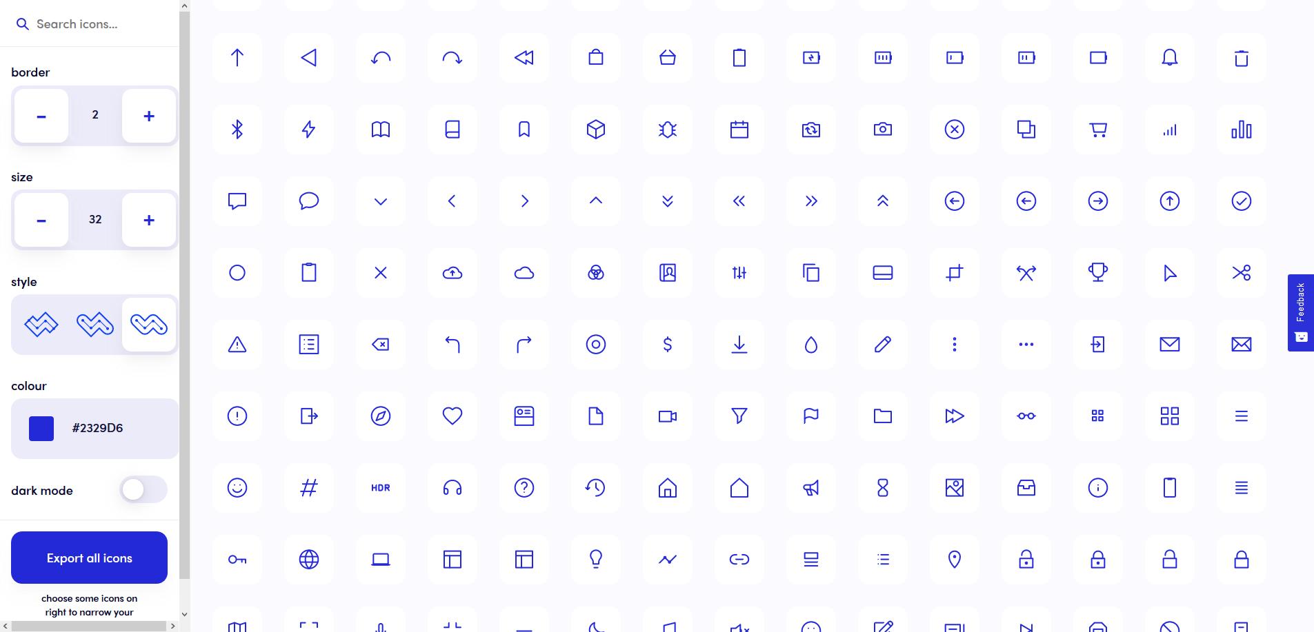 Ikonate, un set gratuit de 234 icônes personnalisables en SVG
