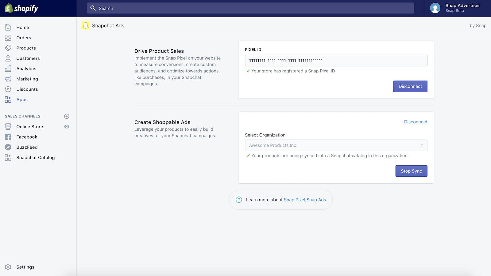 Shopify : une app dédiée pour faire la promotion de produits sur Snapchat