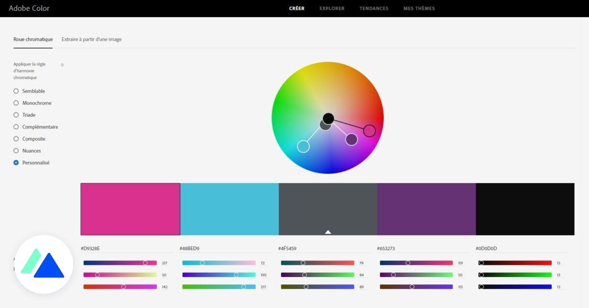 Adobe Color : un outil pour créer une palette de couleurs facilement et trouver de l'inspiration - BDM