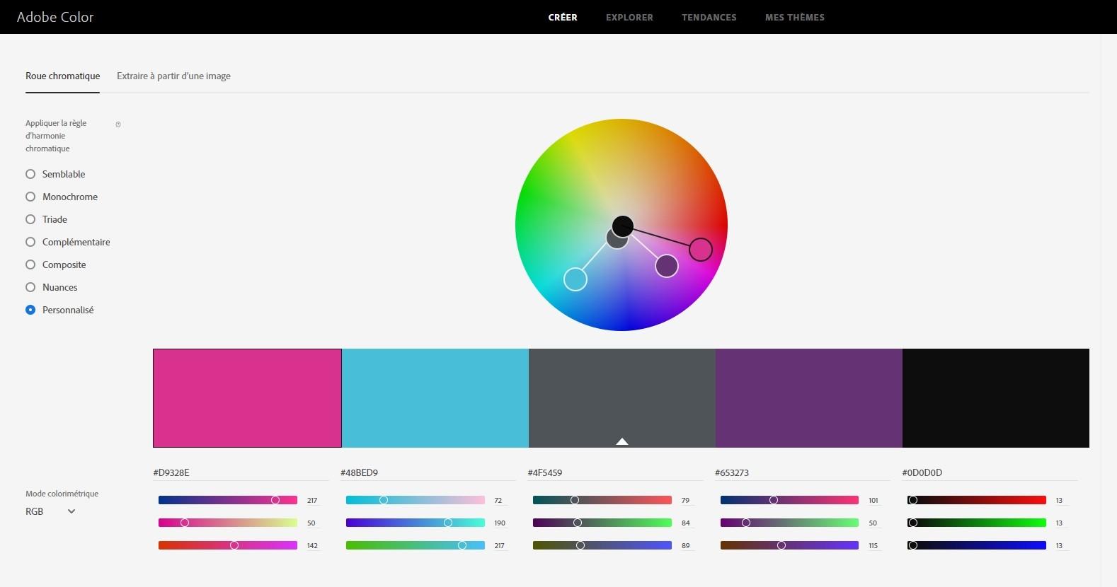 Adobe Color : un outil pour créer une palette de couleurs facilement et trouver de l'inspiration