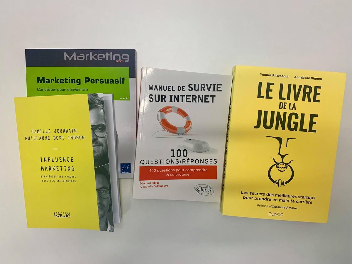 4 livres à gagner sur l'influence marketing, les startups, le marketing persuasif et la cybersécurité