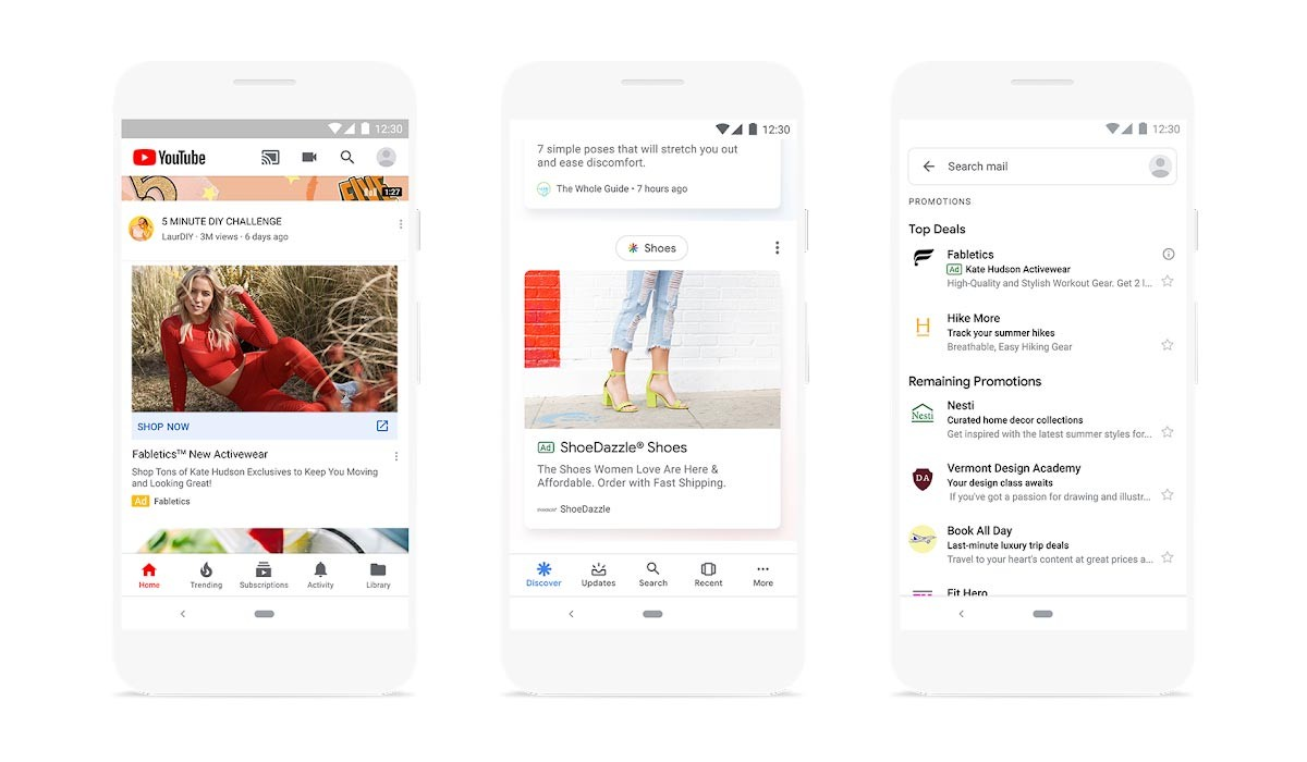 Google intègre des publicités sur Discover