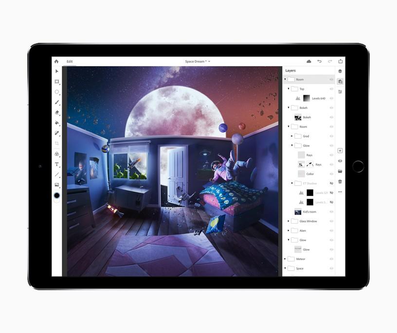 Adobe lance la beta privée de Photoshop sur iPad