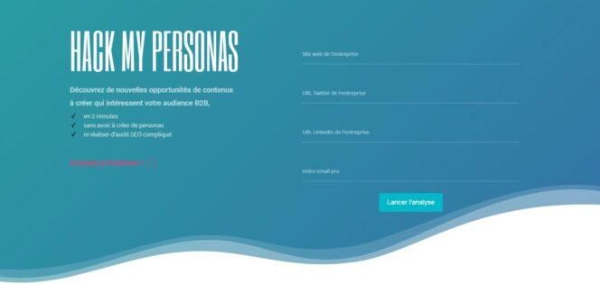 Hack My Personas : un outil gratuit pour trouver des idées de contenus B2B