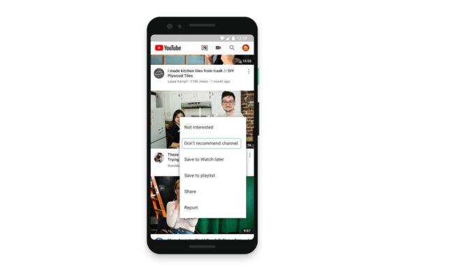 YouTube : vous pouvez maintenant personnaliser vos recommandations