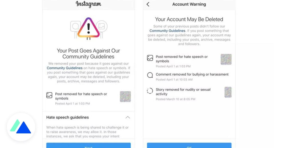 Instagram va prévenir les utilisateurs proches d'une suppression de compte