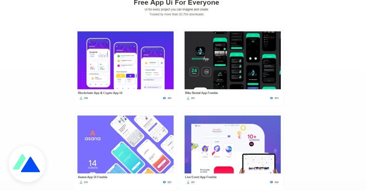 Freebie Lobster : des centaines de modèles d'UI à télécharger gratuitement