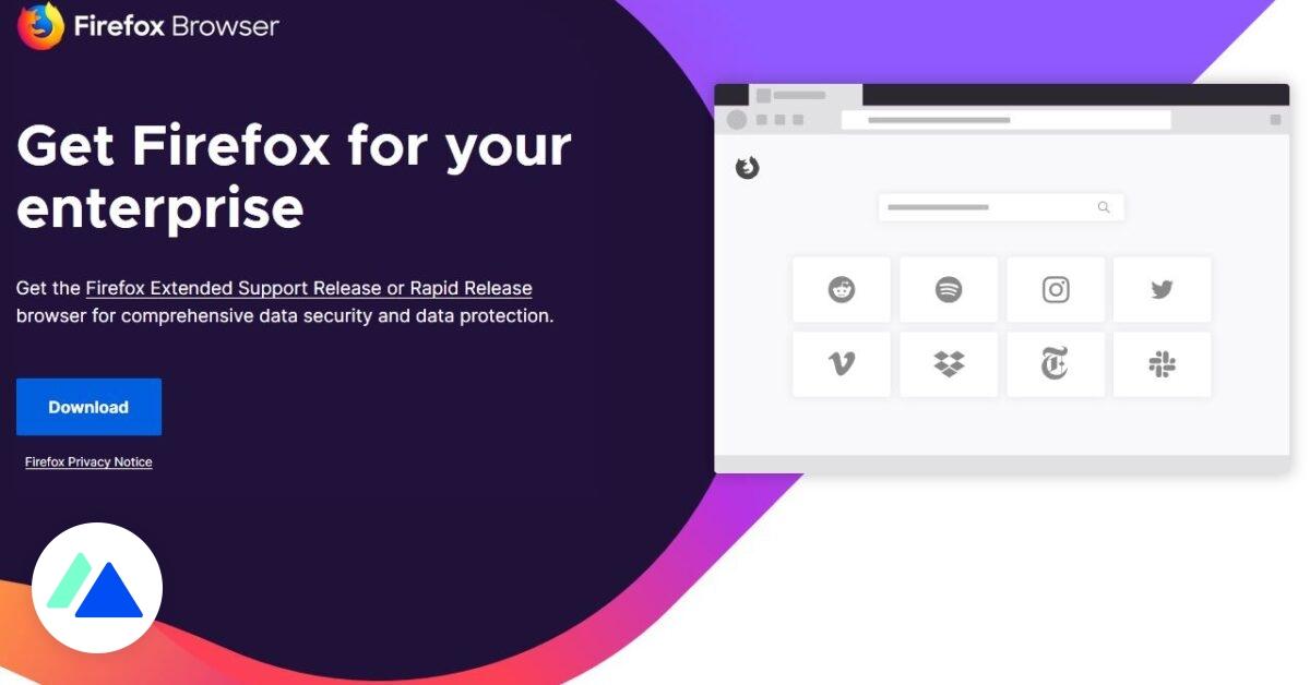 Firefox lance sa version premium pour les entreprises
