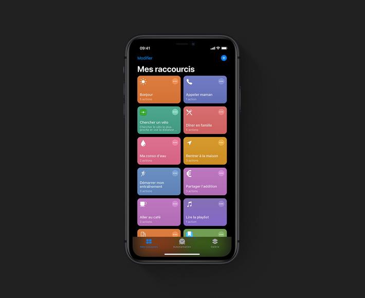 Les raccourcis sur iPhone avec iOS 13