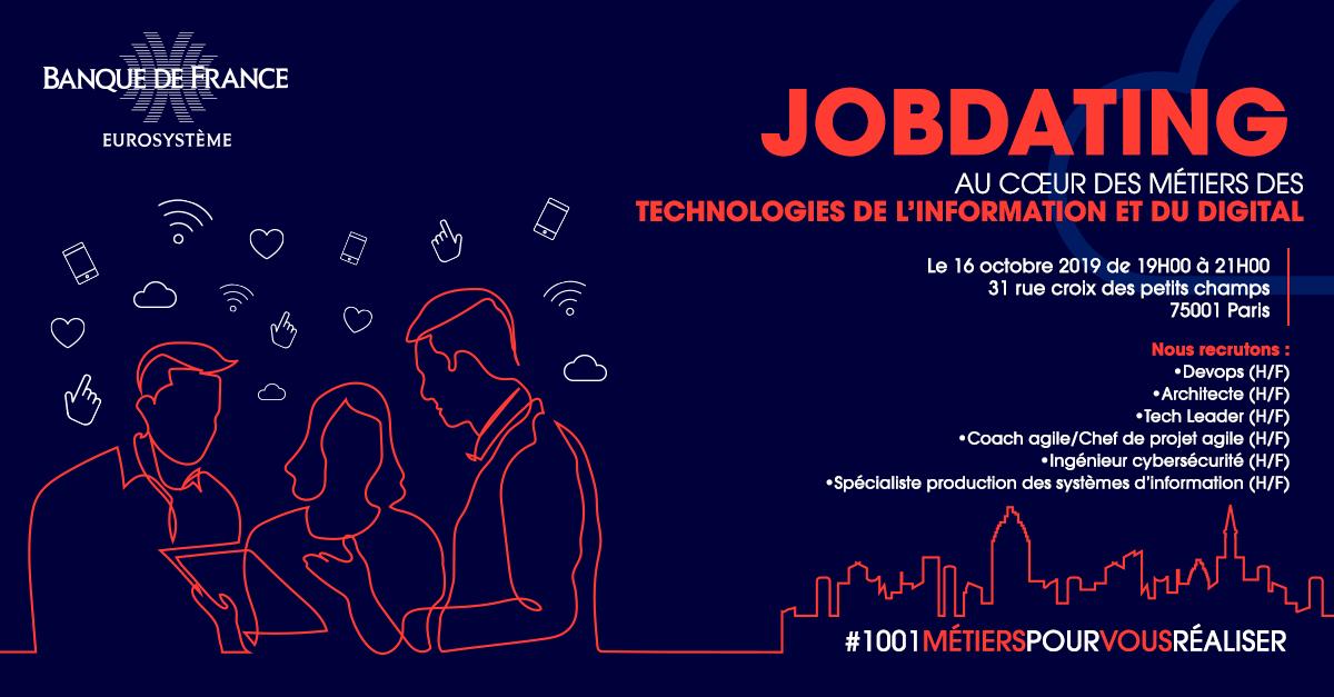 La Banque de France recrute 100 spécialistes IT : inscrivez-vous au jobdating du 16 octobre à Paris