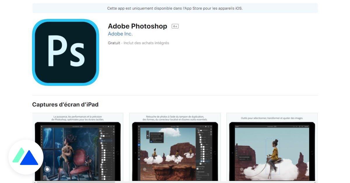 Photoshop est disponible sur iPad