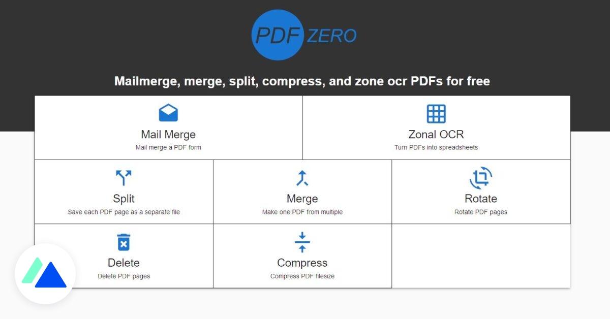 PDFZero : l'outil ultime pour éditer, supprimer, séparer, compresser et fusionner vos PDF