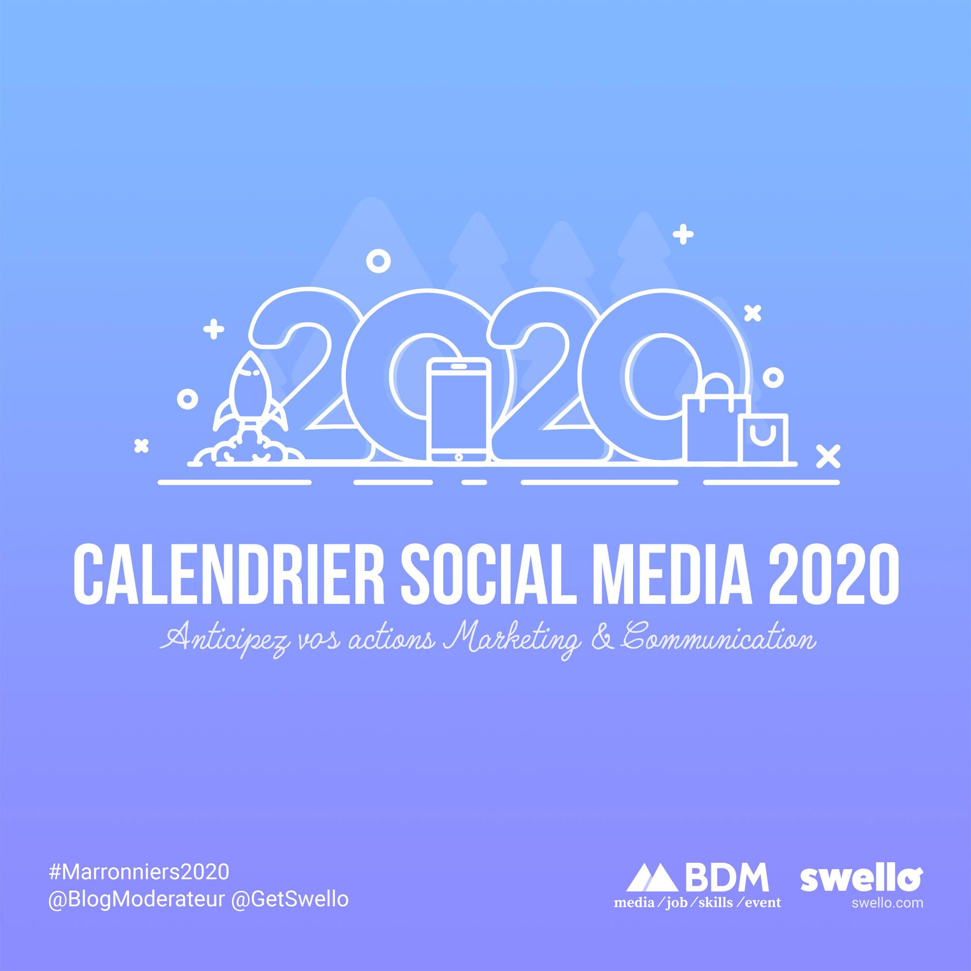Calendrier Marketing 2020 La Liste De Tous Les Evenements De L