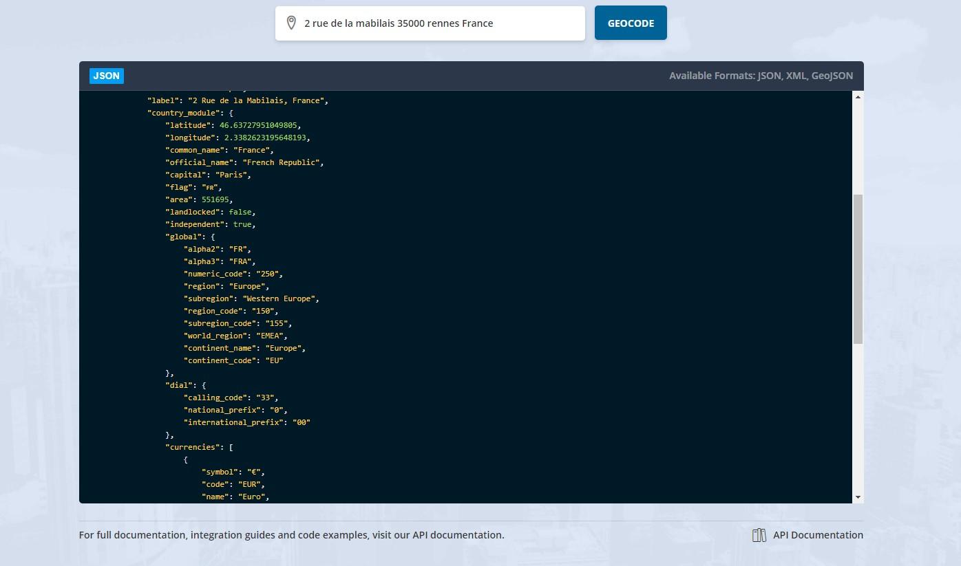 Positionstack : une API gratuite de geocoding en temps réel