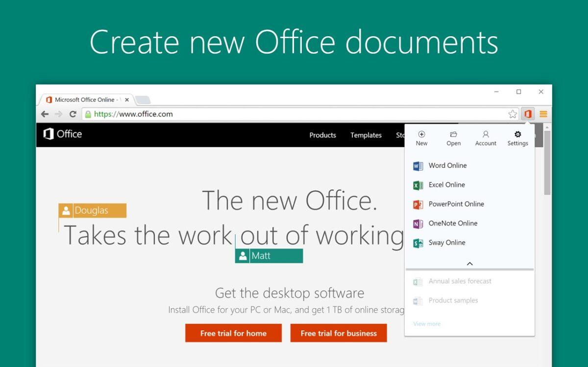Plan De Travail Chrome microsoft office : une extension chrome et edge qui facilite