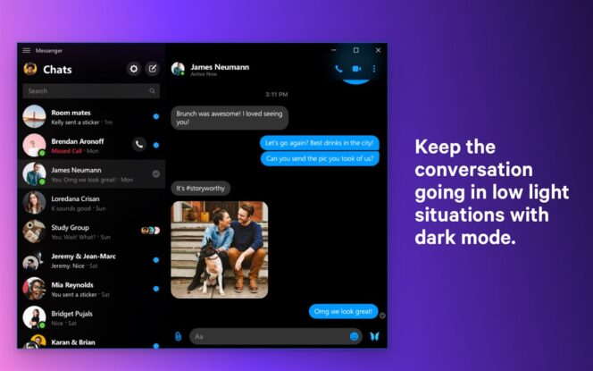 Facebook Messenger s'offre une version Windows 10 et macOS