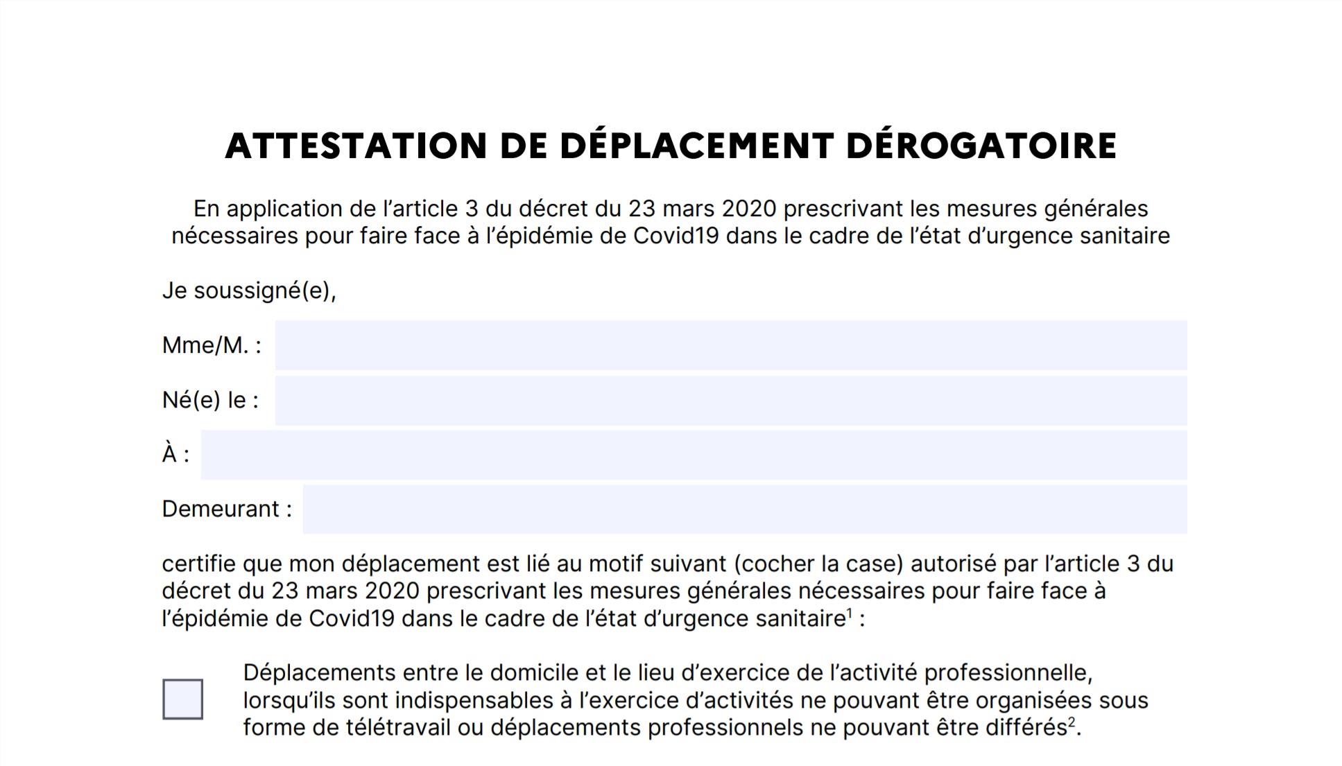 Covid 19 L Attestation De Deplacement Sur Smartphone A Partir Du Lundi 6 Avril Bdm