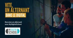 MyDigitalSchool vous accompagne dans votre recherche d'alternants dans le secteur du digital