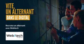 Webitech : trouvez vos alternants auprès de la grande école du digital, de l'informatique et du web marketing