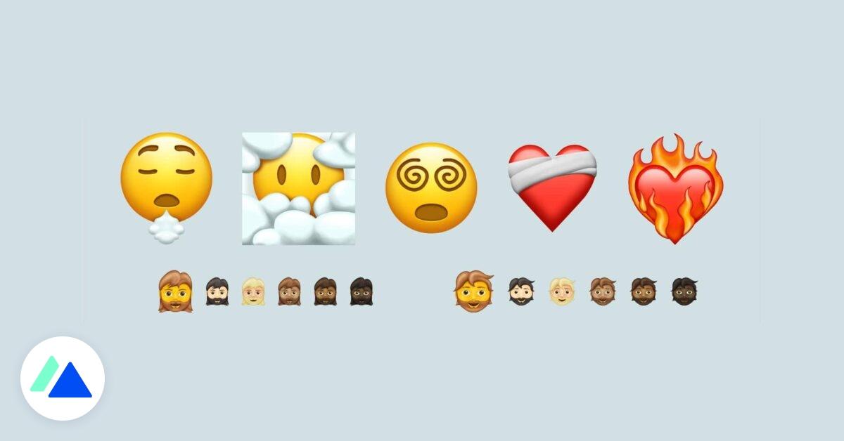 Decouvrez Les Futurs Emojis Cœur En Feu Tete Dans Les Nuages Bdm