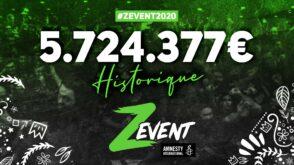 Z Event : les gamers récoltent 5,7 millions d'euros pour Amnesty International