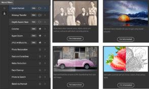Adobe Photoshop lance de nouveaux filtres pour retoucher des images