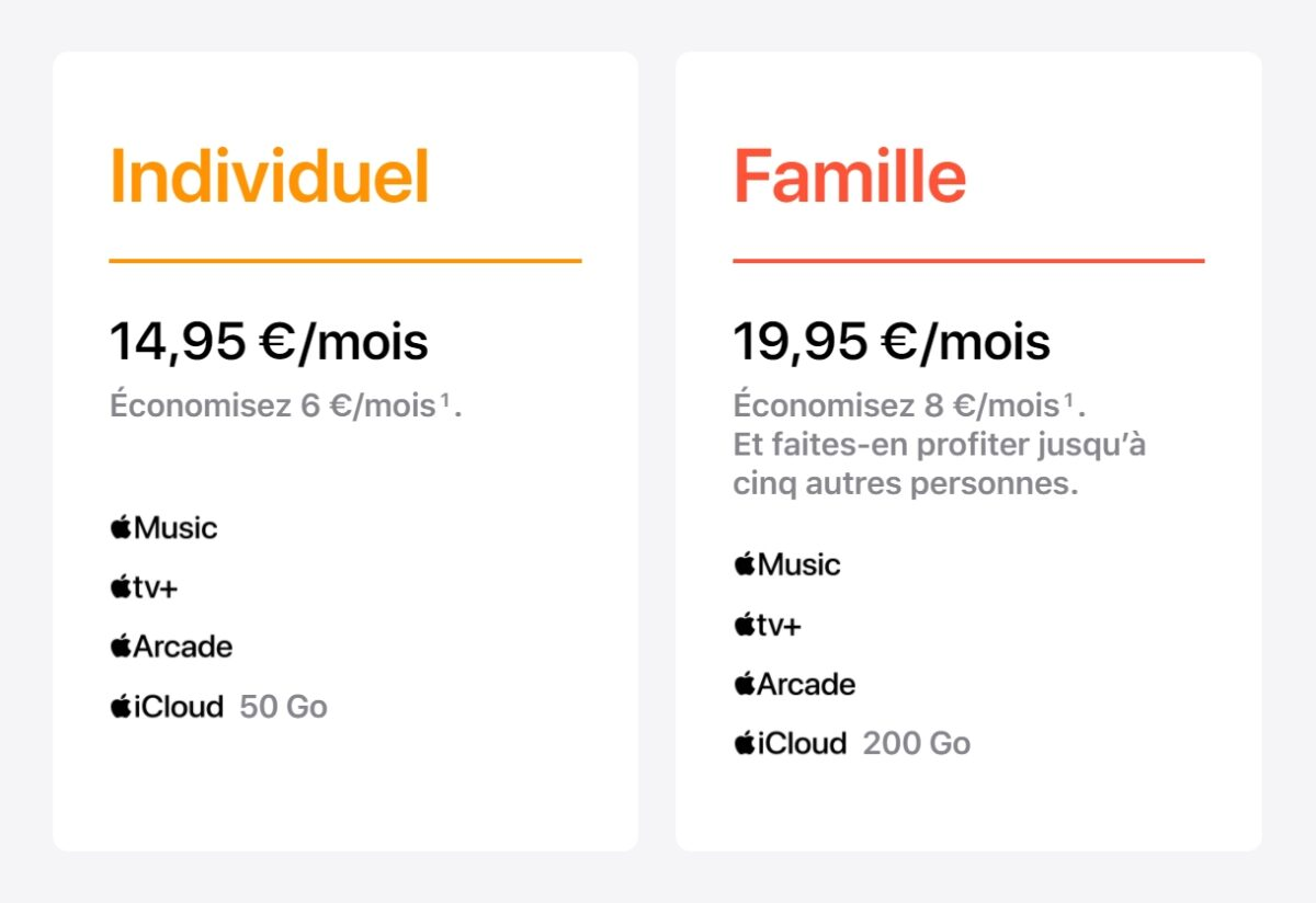 Apple One disponible en France
