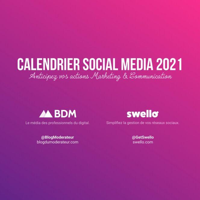 Calendrier marketing 2021 : la liste de tous les événements de l'année