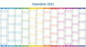 Calendrier 2021 à imprimer : jours fériés, vacances, numéros de semaine…