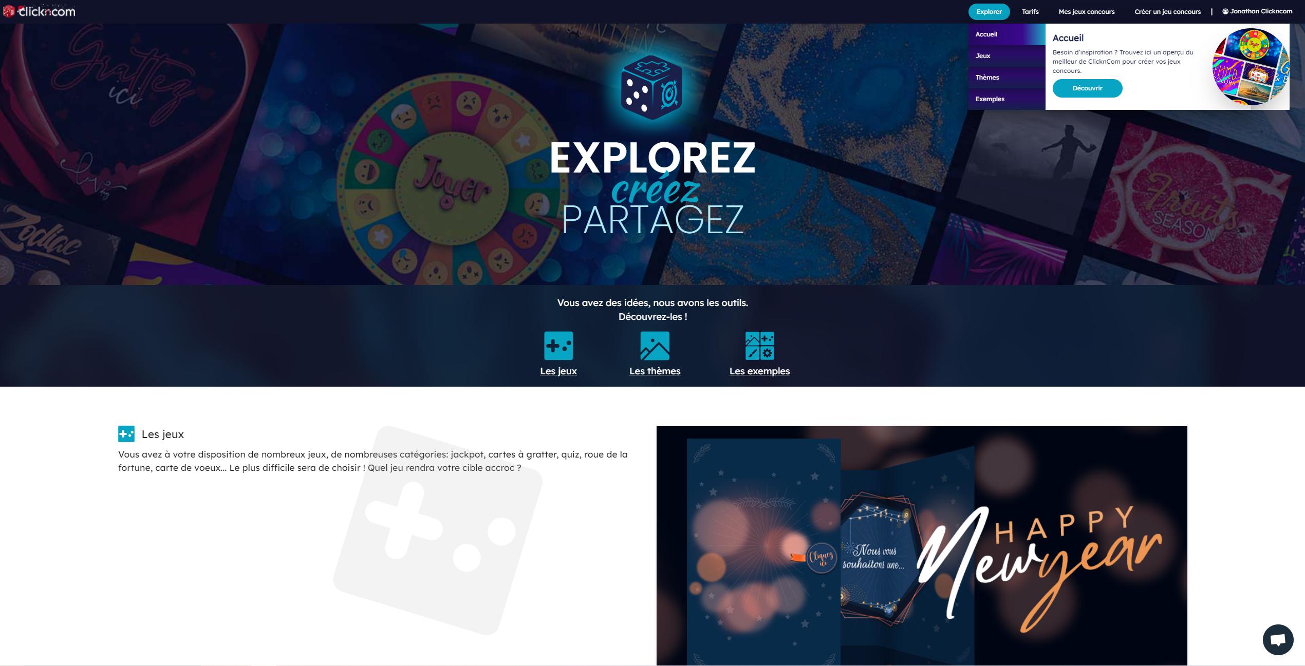 Clickncom Une Solution De Creation De Jeux Concours Pour Tous Vos Objectifs Marketing Bdm