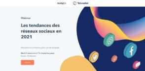 Webinar : les tendances des réseaux sociaux en 2021