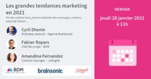 Webinar : les grandes tendances marketing en 2021