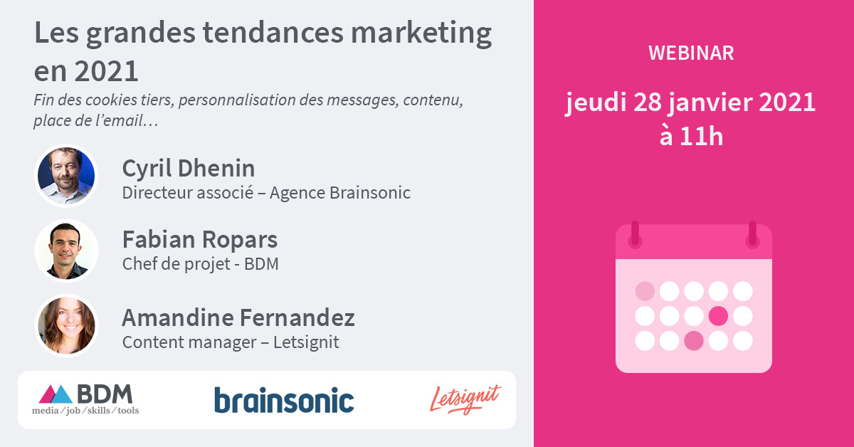 Webinar : les grandes tendances marketing en 2021 - BDM