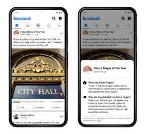 Facebook : des nouveaux labels sur les pages