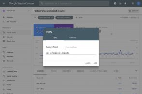 Search Console : utilisez les expressions régulières pour filtrer les requêtes et les pages