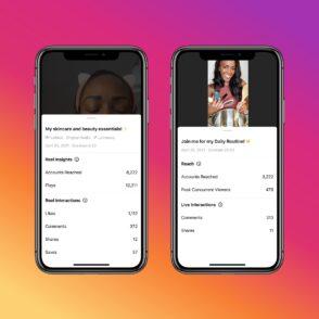 Instagram ajoute des statistiques pour les Reels et les vidéos en live