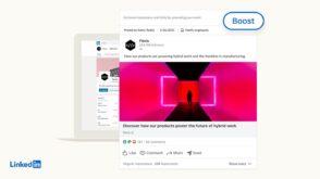LinkedIn lance un bouton Boost pour les publications et un format d'annonce pour les événements