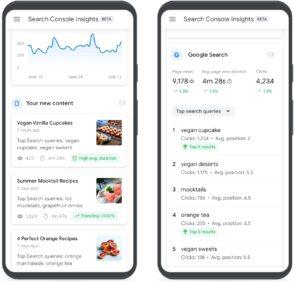 Google lance Search Console Insights, un rapport sur la performance de vos contenus